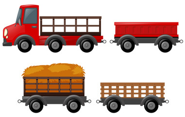 Pick up truck and different design of carts