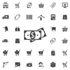 Money icon on the white background