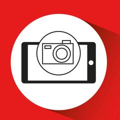 smartphone e-commerce camera photo graphic vector illustration eps 10