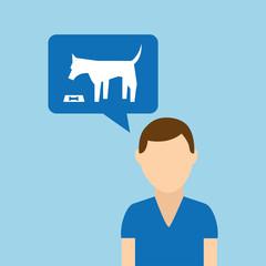 character pet training dog eating vector illustration eps 10