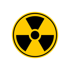 Radiation Danger sign. Caution chemical hazards. Warning sign of