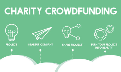 Crowdfunding Startup Business Crowdsourcing Cooperation Graphic