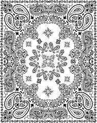 Paisley pattern illustration