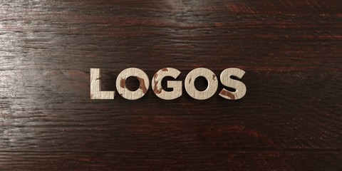 Logos - grungy wooden headline on Maple  - 3D rendered royalty free stock image. This image can be used for an online website banner ad or a print postcard.