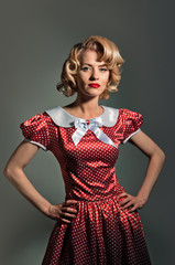 young blonde retro pinup woman