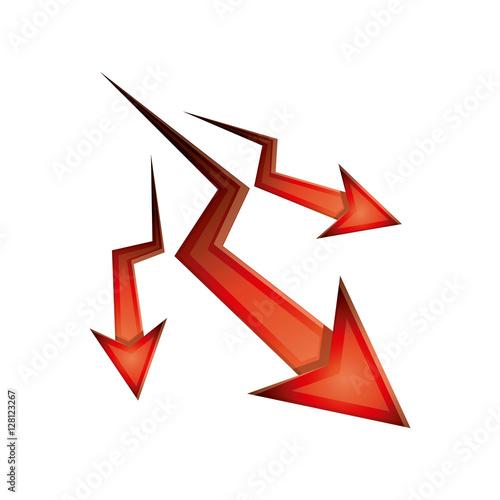 quotdecrease arrow icon direction web and infographic theme