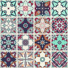 Printed kitchen splashbacks Moroccan Tiles Ethnic floral seamless pattern