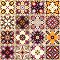 Acrylic Prints Moroccan Tiles Ethnic floral seamless pattern