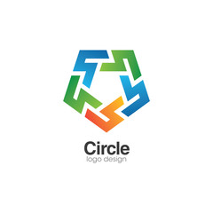 Abstract Business Circle Creative Concept Logo Design Template