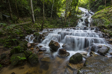 Maekampong Waterfall, Maekampong, Chiangmai, Thailand.
