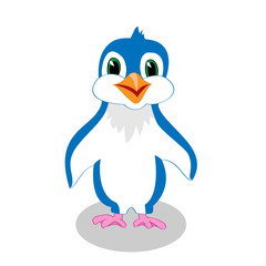 Cute penguin cartoon vector illustration