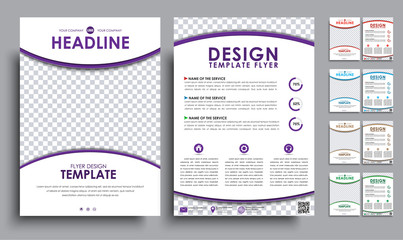 Set flyers (brochure) A4 with empty space for photo