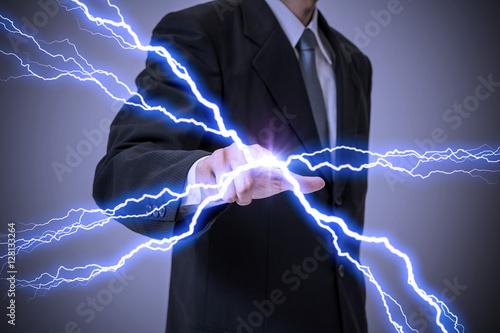 Elektrisch Aufgeladen Mensch