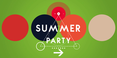 summer party colorful background