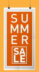 Four Seasons Sale background vertical sheet of paper on the light, mock-up summer sale banners