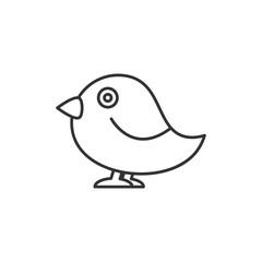 Bird thin line icon