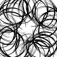 Chaotic random curved lines. Abstract artistic pattern, backgrou