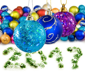 Isolated image of Christmas decorations