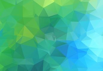 Multicolor polygonal illustration. Geometric background. Triangu