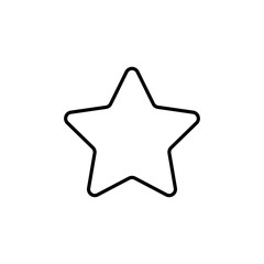 star rating five point pointed line icon black on white