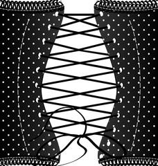 background retro black corset
