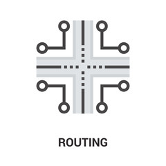 routing icon concept