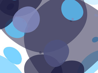 Abstract colorful background with bubbles of different sizes and shapes. Vector