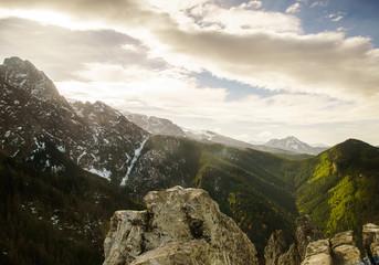 Outstanding mountain landcape of Tatra mountains, Poland