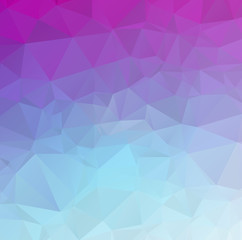 Design polygon multicolor blue and colorful geometric which cons