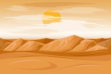 Desert mountains sandstone background vector illustration