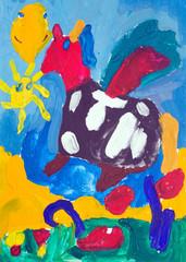 children's drawing Unicorn