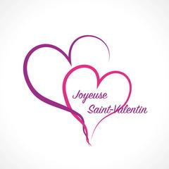Joyeuse Saint-Valentin-cœurs enlacés