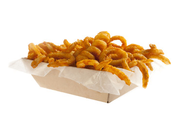 Curly fries served in a box