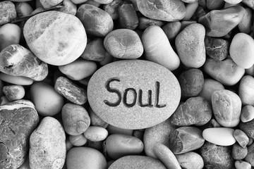 Word Soul written on stone