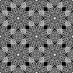 Dark Ornamental Seamless Line Pattern. Endless Texture. Oriental Geometric Ornament