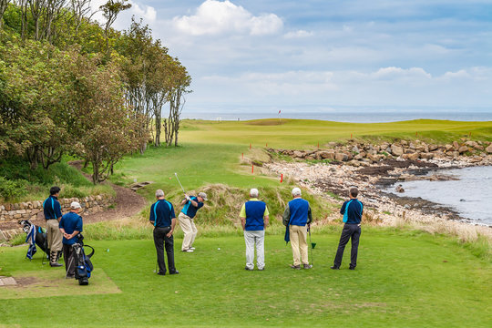 Scottish links golfcourse