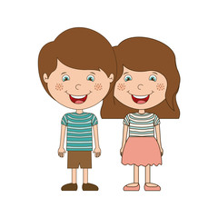 Boy and girl cartoon icon. Kid childhood little people and person theme. Isolated design. Vector illustration