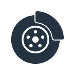 disc brake isolated icon on white background, auto service, repa