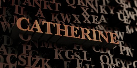 Catherine - Wooden 3D rendered letters/message.  Can be used for an online banner ad or a print postcard.