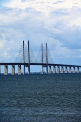 View to Öresund bridge over the Baltic Sea, Sweden