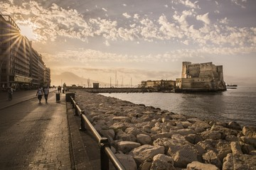 Photo sur Plexiglas Naples Napoli, castel dell'Ovo