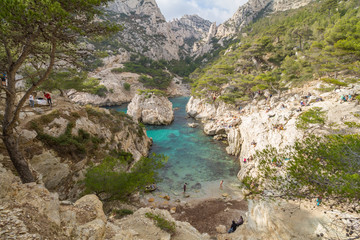 Foto op Canvas Blauw Calanques near Marseille and Cassis in south of France