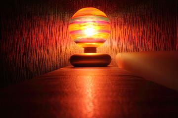 Glowing disco ball.