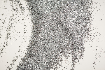Large background texture silver glitter shiny sparkling