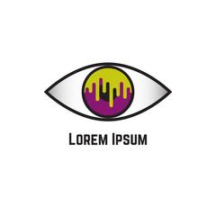 Eye logo vision symbols logotype