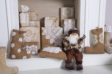 New Year's chimney & Santa Claus