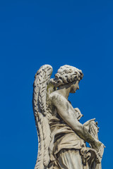 Angel statue at Sant Angelo Bridge in Rome