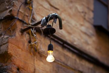 Old street light bulb