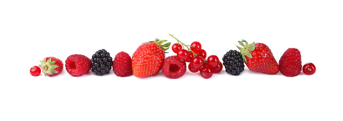Photo sur Plexiglas Fruit Petits fruits rouges
