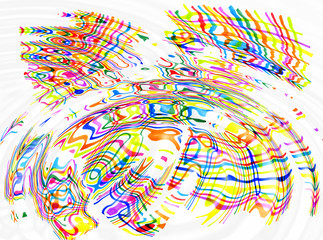 Abstract color spots and lines ripples background